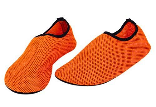 Erwachsene Tauchen Schuhe Yoga Laufband Schuhe Waten Schuhe Schwimmen Schuhe Net Schuhe Orange