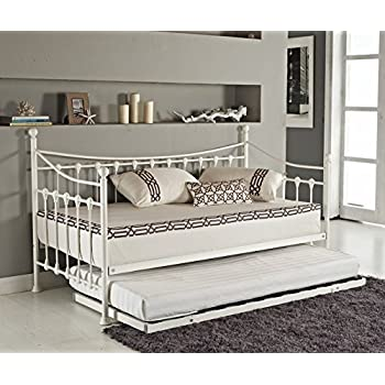 elegant french metal versailles single day bed with pull out guest trundle bed black or
