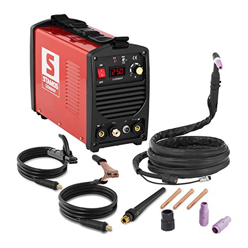 Stamos Germany S-WIGMA 250 Poste à Souder TIG WIG MMA (250 A, 230 V, ARC-Force, Hot Start, Anti-Stick, MOSFET) Basic