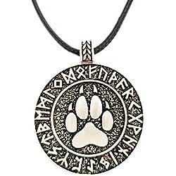 Rúnico Oso Garra Collar, Colgante Estilo Retro Vikingo Amuleto, Nuevo Nordic Joyería de Aleación Runes - Adjustable