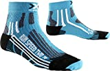 X-Socks Donna Run Speed Two Lady Corsa Calze, Donna, RUN SPEED TWO LADY, Turchese/nero, 37-38