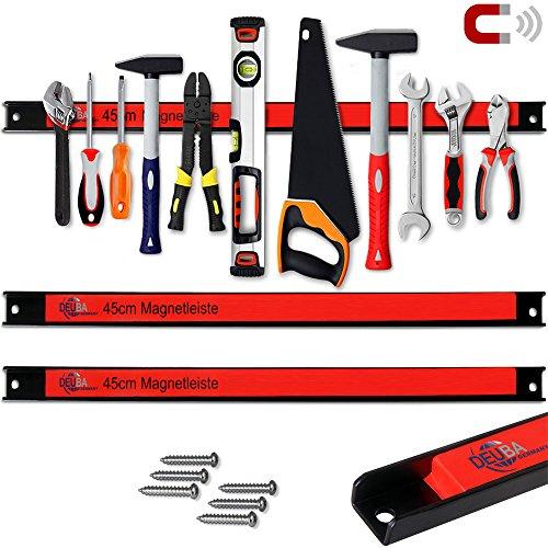 Set 3er 45cm ✔23kg Tragkraft ✔Modellauswahl ✔Montagematerial Werkzeugleisten Messerleisten mit Modellauswahl Magnetleisten für Werkzeug (Magnet-set)