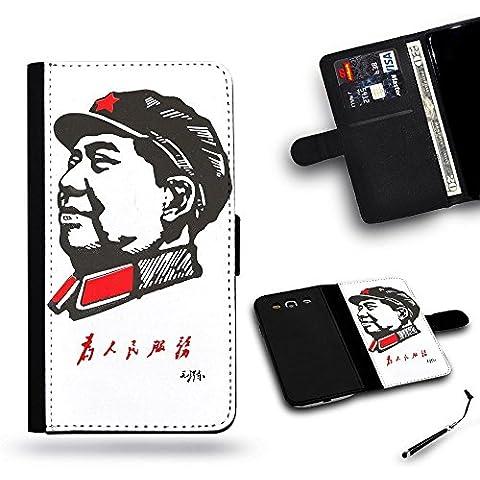 Teléfono Móvil/Tienda/Full protección funda carcasa ranura de funda de piel tipo cartera para Samsung Galaxy S4i9500, Samsung S4//Mao Servir la gente Rojo Traje de