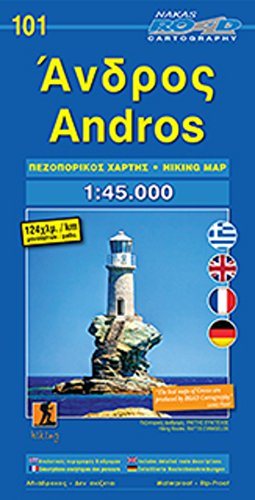 Andros hiking 2017 por Road Editions