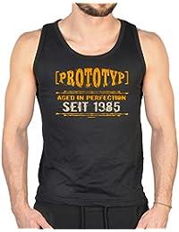 Tank-Top Shirt - Prototyp seit 1985 - witziges Top als Geschenk für Geburtstagskinder des Jahrgangs 1985, Größe:L