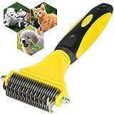Divo Pet Undercoat Rake, Peine de Doble Cara para Aseo, Peine de Descarga para Mascotas para Perros y Gatos - Elimina el Pelo Suelto, Nudos, Alfombrillas y Pelo enredado