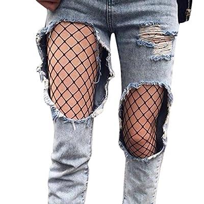 Socken Longra Damen Mädchen Mode Strumpfmode schwarzen elastischen Oberschenkel hohe Strümpfe Strumpfhosen Netzstrumpfhose from Longra