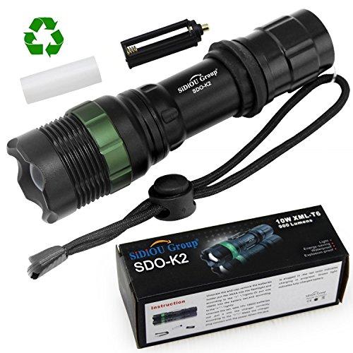 Sidiou Group Super lucido Lampada torcia a LED CREE T6 7W 900 lumens Torcia con zoom