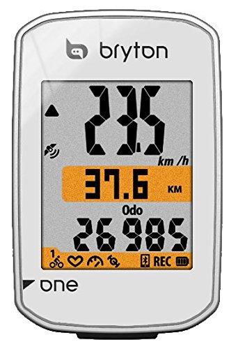 Bryton Computer GPS Rider One con sensor de cadencia, Blanco, ND