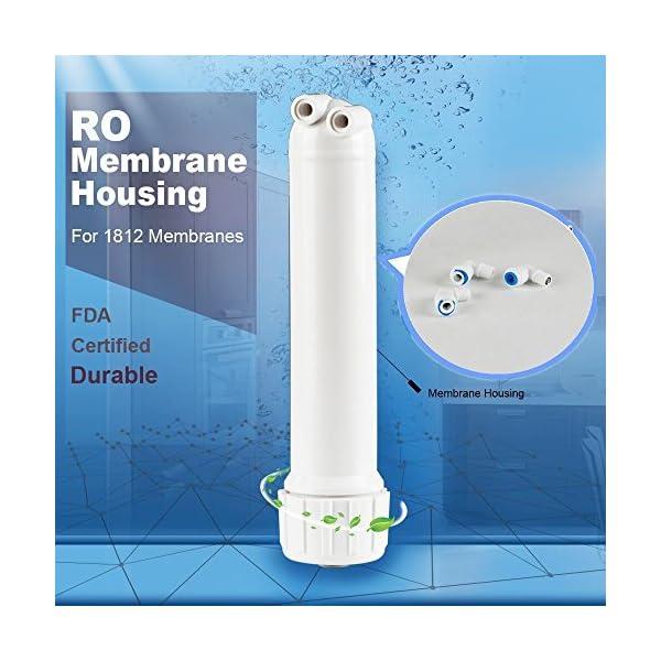 ROMembrane, Membrana Solutions Osmosis inversa 50GPD Membrana y 1812/2012 RO; Kit de carcasa para membrana DIY 1/4 conector rápido incluido