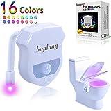 WC Nachtlicht ,Suplong Smartes Toilettenlicht mit mehrfarbige LEDs, LED WC Lampe mit Bewegungssensor Licht Toilettenbeleuchtung für Kinder Eltern im Badezimmer Hause