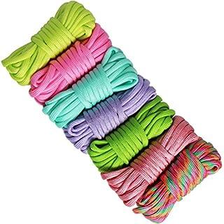 aufodara 7er Paracord Set Seile Schnüre DIY Handgemachte Webart für Armband Schlüsselanhänger Anhänger