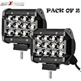 AllExtreme 12 LED Fog Spot Beam Light Cube Bar with Mounting Bracket for Car Motorcycle Off Road Vehicle (36W, Pack of 2)