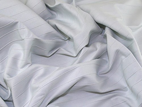 Pintuck Kleid (Minerva Crafts Fischgrätenmuster Pintuck Streifen Stretch Passend Kleid Stoff Ice Blau-Meterware)