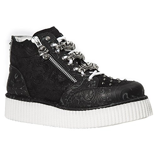 New Rock Neo Creeper nero Pelle Scarpe M.CRP003-S2