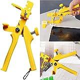 Pinza di livellamento per piastrelle, morsetti per pavimenti in ceramica, strumento di installazione per distanziatori a parete e pavimento Taglia libera Yellow