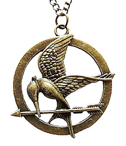 - Antik-Bronzefarben - Detaillierte Gravuren - Frau - Mädchen - Geschenkidee - Der verspottete Jay - Hunger Games - Mockingjay - Geburtstag - Weihnachten - Schmuck - Sie ()
