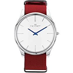 White/Red Kensington Watch by Kennett