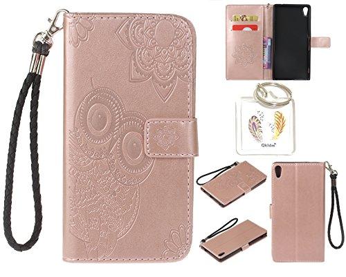 Preisvergleich Produktbild für Sony Xperia XA Ultra PU Leder Silikon Schutzhülle Handy case Book Style Portemonnaie Design für Sony Xperia XA Ultra + Schlüsselanhänger ( KLZ (5)