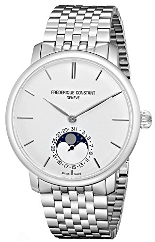 Frederique Constant Men's Manufacture Slimline Moonphase 42mm Metal Bracelet Automatic Watch 705S4S6B