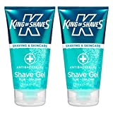 King of Shaves Antibacterial Shaving Gel for Men - 150ml TWIN-PACK