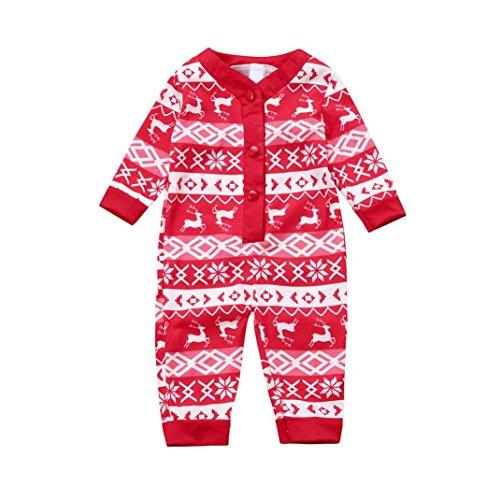tsbaum Set Family Matching Vater Mutter Kinder Neugeborenen Pyjamas Langarm Schlafanzug Nachtwäsche Deer T-shirt Hosen Romper Jumpsuit Familie passenden Outfits (90CM, Babys) (Der Junge Im Gestreiften Pyjama Kostüm)