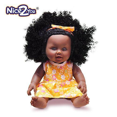 rican Schwarz Puppe lebensechte 12 Zoll Baby Reborn Puppen für Kinder Kinder ()
