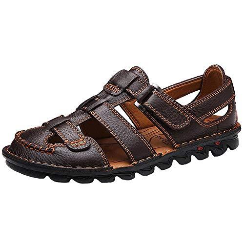 Yaer Hombres Sandalias de Cuero Zapatos de Playa para los Hombres Zapatos Tamaño EU38-EU48(2 Color)