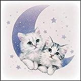5D Volle Nette Katze Diamant Bild Stickerei Gemälde Strass Eingelegt DIY Diamant Malerei Kreuzstich Stickerei Voller Diamant Anstrich Dekoration Malerei