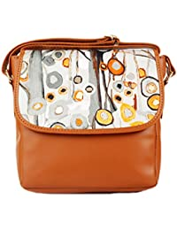 Premium New Latest Designer Ethnic Traditional Tan With Grey Colour Tan With Grey Printed Sling Clutches For Women...
