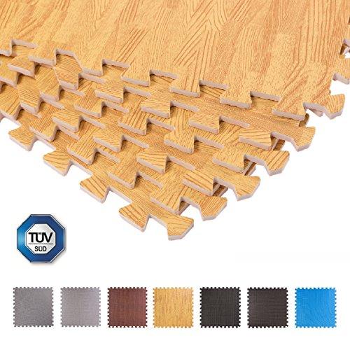 Schutzmatten 60 x 60 cm, Mattenstärke: 10-25mm Puzzlematte Sportmatte Unterlegmatte Gymnastikmatte...