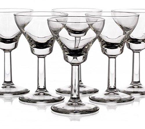 Likörgläser Likörschalen 6 Gläser für Likör Eierlikör- Schalen Diamond 60 ml NEU&OVP