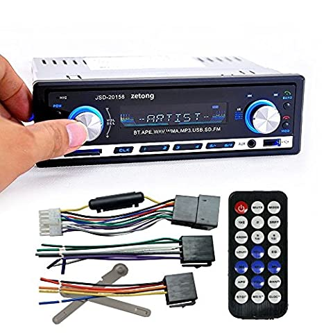 Zetong Autoradio MP3 Tuner PLL 50W x 4 Slot pour