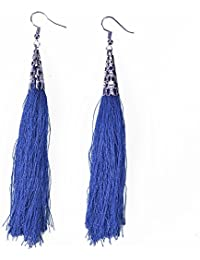 Xpork Bohemian Vintage Long Tassel Earrings Long Fringe Dangle Elegant Earrings Jewelry Gift