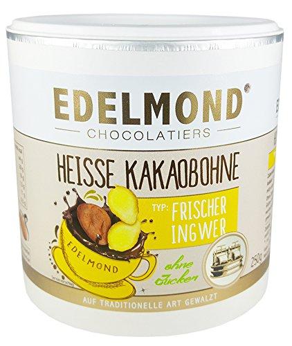 Edelmond Heiße Kakaobohne Ingwer. Konzentriert, ohne Zucker für Trinkschokolade. Kein Pulver. Vegan & Fairtrade