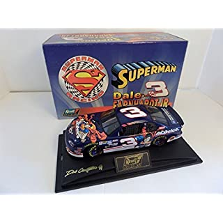 1999 Dale Earnhardt Jr #3 AC Delco Superman 1/24 Revell Collection Hood, Trunk Open With Acrylic Display Case and Certificate of Authenticity Limited Edition