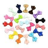 20X Toruiwa Haarklammern Bowknot Haarclips Haarschleifen mehrfarbig Haar Accessoire Ribbon Diy Haarspangen für Mädchen 8*8cm Zufällige Farbe (A)