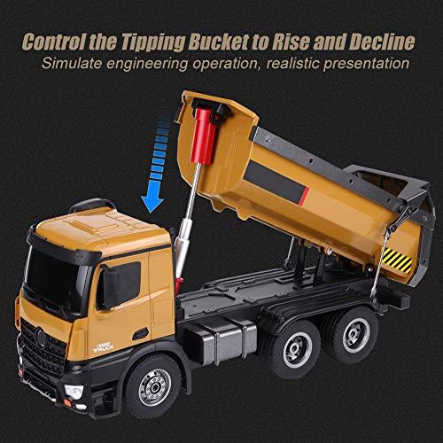 RC Auto kaufen Baufahrzeug Bild 3: Dilwe RC Muldenkipper, HUINA 1573 1/14 Skala 2,4 GHz RCDumping Truck Auto Fernbedienung Engineering Fahrzeug Spielzeug Geschenk für Kinder*