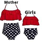 iClosam Bikini Badeanzug Set Familie Passenden Mutter Mädchen Bademode Hohe Taille Badeanzug Zweiteilige Bikini