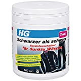 HG Schwarzer als schwarz Spezialwaschmittel für dunkle Wäsche, 2er pack (2x 500 gr) - lässt dunkle Textilien wie neu aussehen