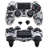Pandaren® Ultra Rüstung Gang FPS Schale Gehäuse für PS4 Controller (Tarnung grau)