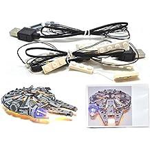 LED Light Up Kit Para lego Star Wars Millennium Falcon 05007 también lego 75105, UCS 75192 y UCS 10179 Kit de luces Lego Led luces de lego luces lego Bloques de construcción Compatible con Lego