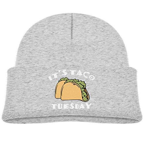 LLALUA It's Taco Tuesday Beanie Cap Knit Hat Infant Gray - Infant Knit Beanie Orange