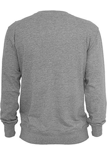 Urban Classics Herren Pullover Contrast Pocket Crewneck Mehrfarbig (Grey/Flower 00696)