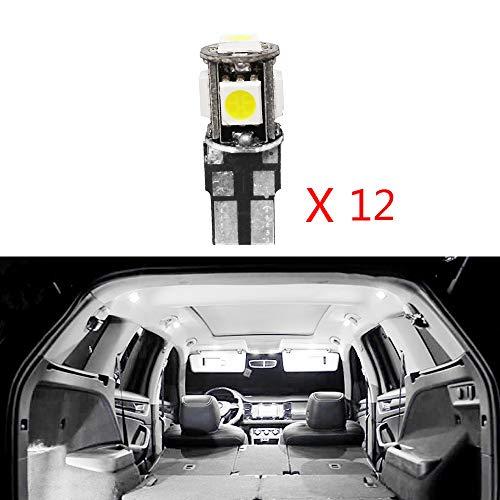 Cobear 12V Blanc Lumineux Superbe kit de Lampe de lumière mené de Voiture pour RangeRover remplacent pour Les Ampoules halogènes ou cachées 12pcs
