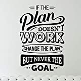 If The Plan Doesn't Work Change The Plan But Never The Goal Sticker Mural Autocollant...