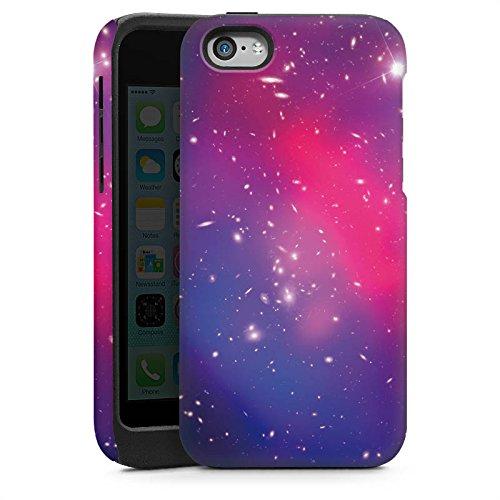 Apple iPhone 5s Housse Étui Protection Coque Univers Galaxie Espace Cas Tough brillant