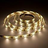 Smartfox LED Strip Leuchtstreifen Lichtband Leuchte Deko 50cm batteriebetrieben selbstklebend in warmweiß