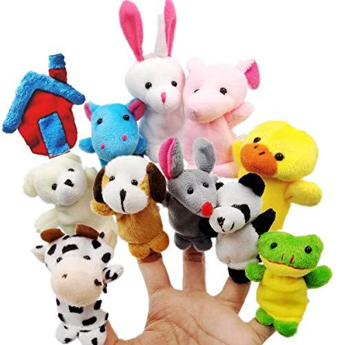 JZK 11 Marionetas Dedo Animales Dedos títeres