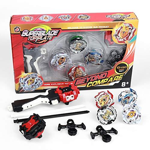 infinitoo Beyblade Burst, Kampfkreisel Set 4D Fusion Modell Metall Masters Beschleunigungslauncher Speed Kreisel Tolles Kinder Spielzeug Geschenk für Weihnachten, Geburtstag